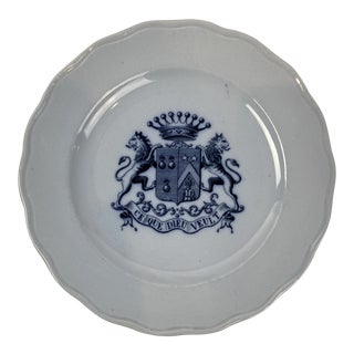 English Transferware Salad Plate For Sale