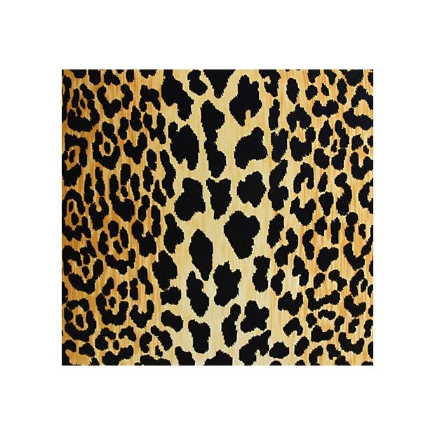 "Custom Tailored Leopard Spot Safari Velvet Feather Down Pillows 26"" - a Pair - Image 4 of 12"