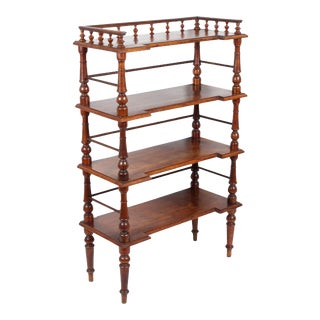 Antique Italian Walnut Étagère For Sale