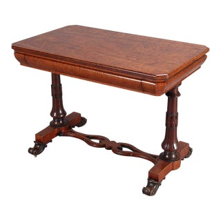 19th C. Mahogany Writing Table For Sale