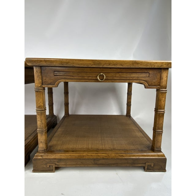 Asian 1960s Drexel Heritage Asian Style Side Tables - a Pair For Sale - Image 3 of 13