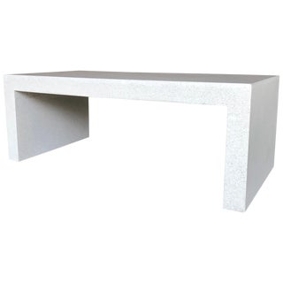 Cast Resin 'Lynne Tell' Cocktail Table, White Stone Finish by Zachary A. Design For Sale