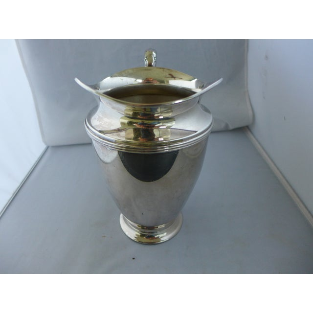 Traditional Lynton Silver-Plate Water Pitcher For Sale - Image 3 of 6