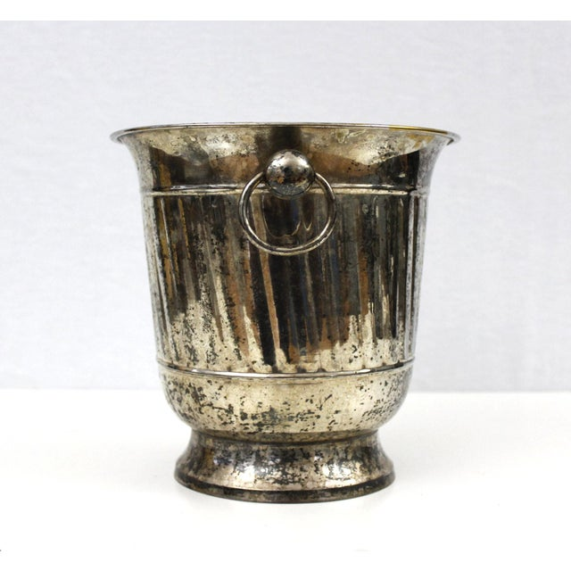 Godinger Vintage Silver Plated Ice Bucket With Scoop Champagne Bucket Silverplate Godinger For Sale - Image 4 of 9