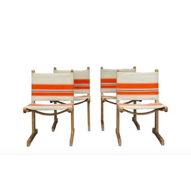 Cantilevered Dining Chairs by Ditte & Adrian Heath for France & Son- Set of 4 For Sale - Image 11 of 11