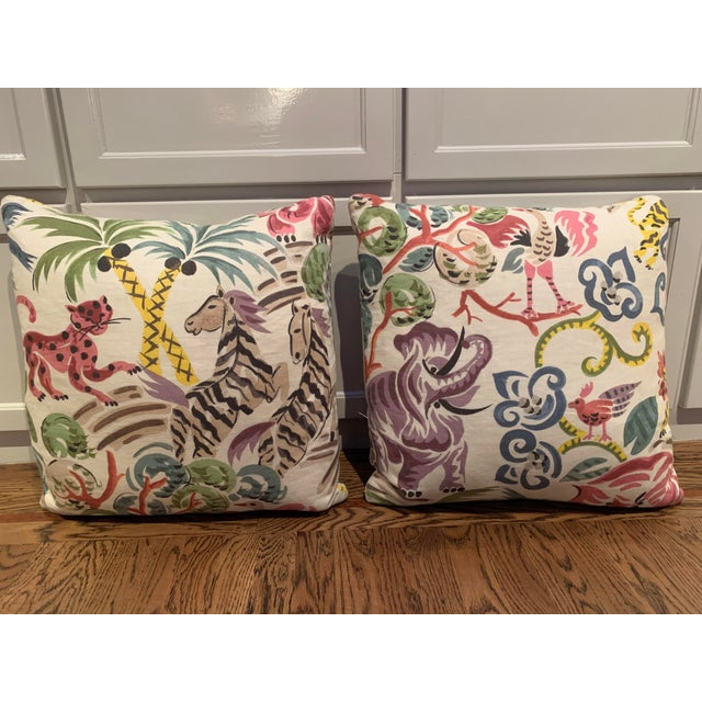 Clarence House Congo Fabric Pillows - A Pair For Sale In San Francisco - Image 6 of 6