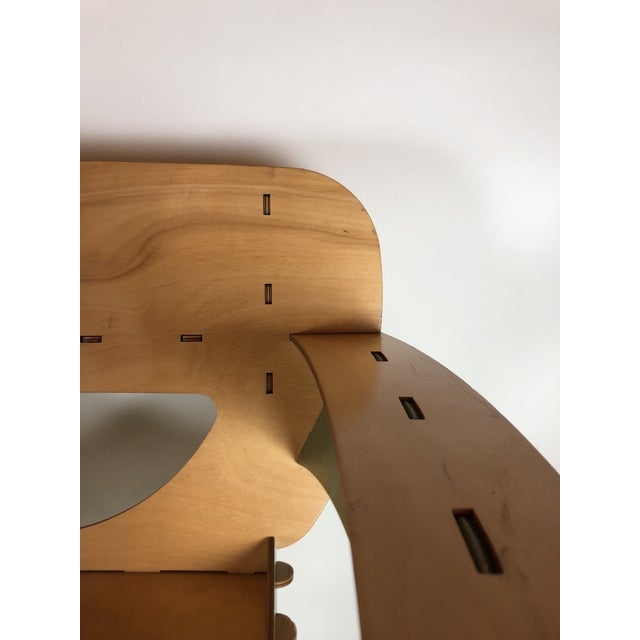 David Kawecki 1990s Vintage David Kawecki Puzzle Chairs- A Pair For Sale - Image 4 of 6