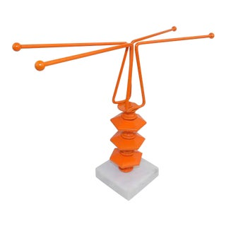 Orange Necklace Tree & Ring Holder