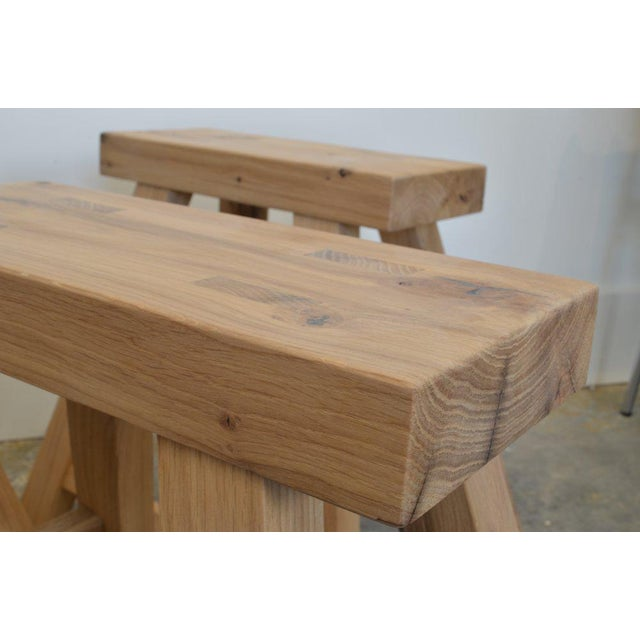 Not Yet Made - Made To Order Oz|shop Antique Oak Stools For Sale - Image 5 of 7