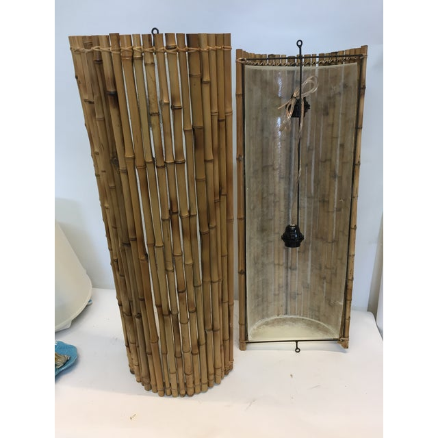 Asian Balinese Bamboo Wall Sconce For Sale - Image 3 of 5