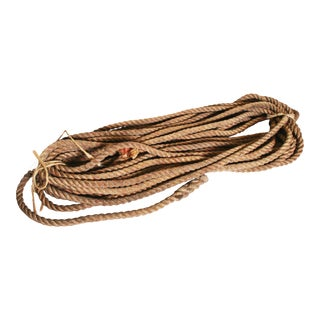 Vintage Nautical Woven Manila Rope - 120 Feet