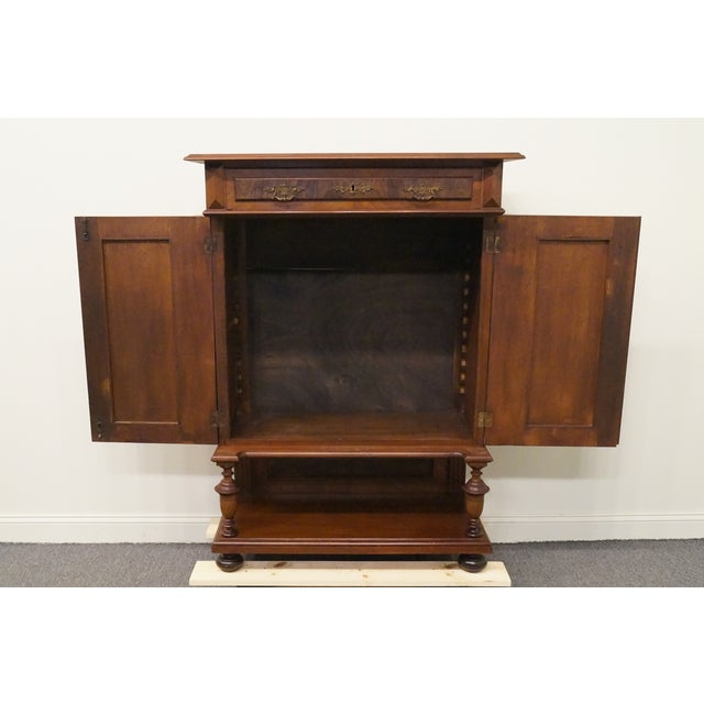 Mid 20th Century 20th Century Traditional Burl Walnut and Mahogany Court Cupboard For Sale - Image 5 of 12