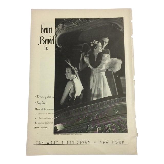 Henri Bendel Print Ad, 1935 For Sale