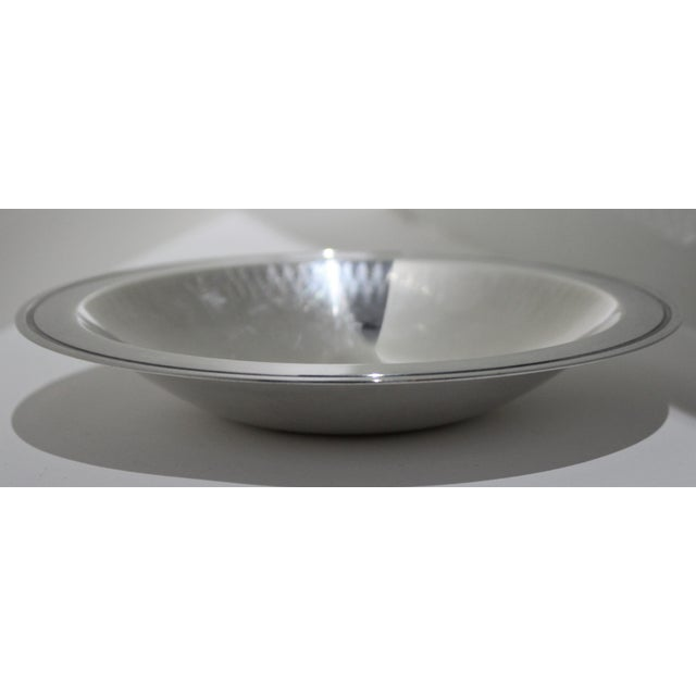 WMF Ikora Silver Plated 1950s Embossed Edge Bowl or Dish by Wmf Ikora Germany For Sale - Image 4 of 12