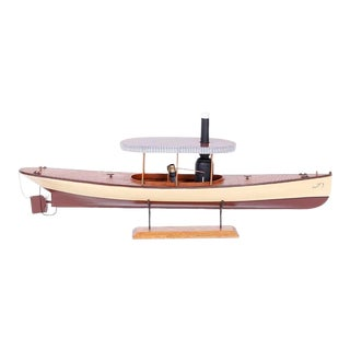 Vintage Model of a Steam Powered Boat or Launch For Sale