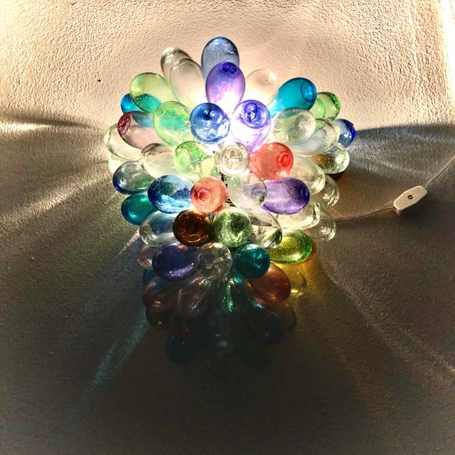 Colorful Wall Sconce Fixture of Recycle Hand Blown Glass For Sale - Image 4 of 11