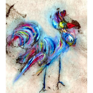 Blue Rooster #1 Fine Art Print Small For Sale
