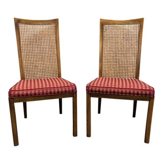 Drexel Heritage Accolade Campaign Style Dining Side Chairs - a Pair