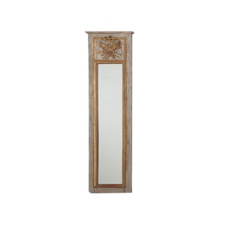 Late 19th Century Antique Trumeau Mirror For Sale