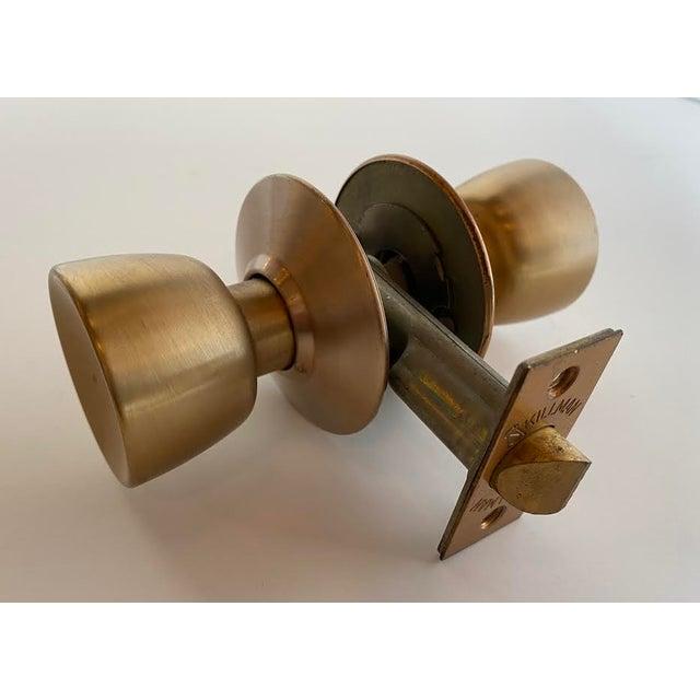 Bronze 1960s Mid-Century Modern Satin Bronze Skillman Passage Doorset For Sale - Image 8 of 8