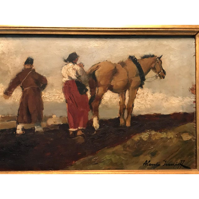 Being offered from the heirs of original American owners, who purchased it in Rome in 1947 travels, is this genuine oil...