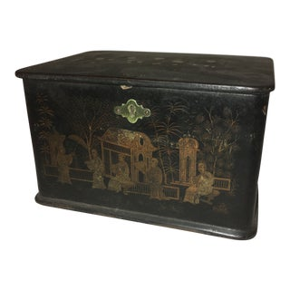 19th-Century Chinoiserie Tea Caddy For Sale