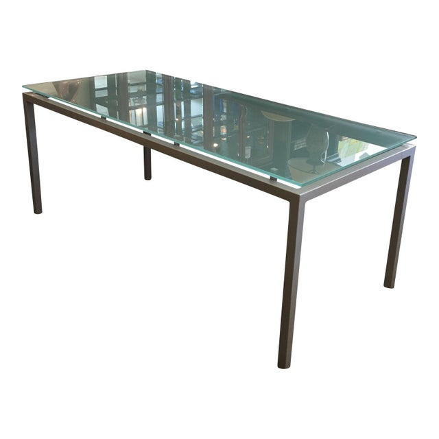 Design Within Reach Frosted Glass Top Dining Table | Chairish