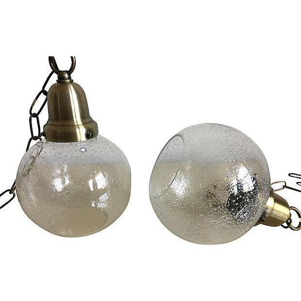 Swedish Glass Pendant Lights - a Pair For Sale - Image 4 of 7