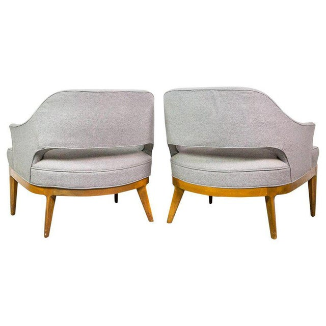 Wood Chic Pair of Lounge Chairs by Harvey Probber For Sale - Image 7 of 7