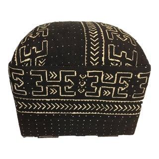 "LG Ottoman in African Malian Mud Cloth 18."" h For Sale"