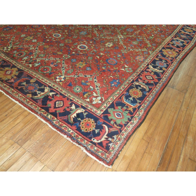 "Antique Persian Mahal Rug - 9'2"" X 13' For Sale In New York - Image 6 of 7"