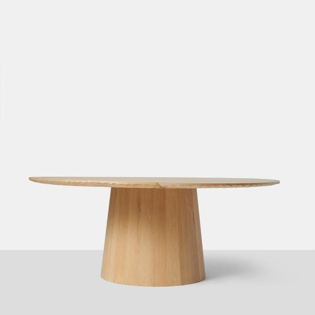 Wood Oak Dining Table by Kaspar Hamacher For Sale - Image 7 of 7