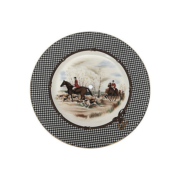 1980s Ralph Lauren Balmoral Hunt Cake Plate For Sale - Image 5 of 5