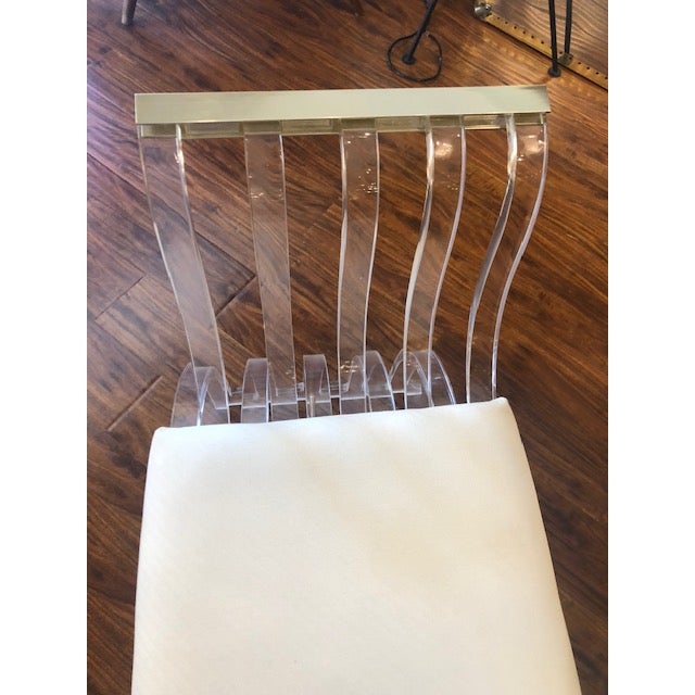 Plastic Vintage Hill Manufacturing Lucite Bench For Sale - Image 7 of 8
