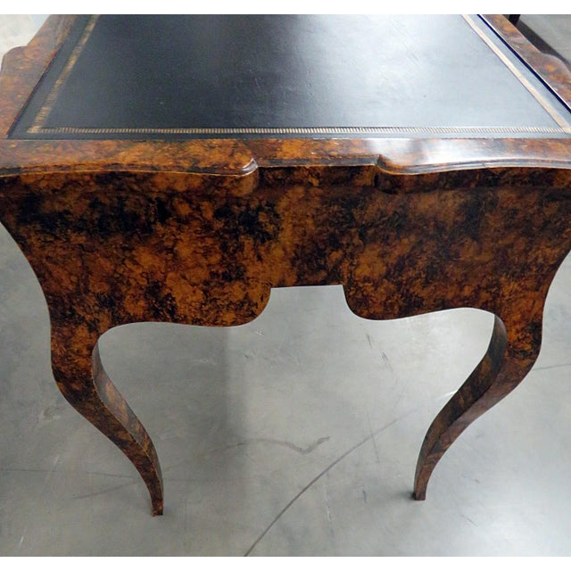Black Directoire Style Leather Top Writing Desk For Sale - Image 8 of 9