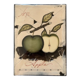 "Savage Design Studio ""No 32 Apple"" Painted Fresco For Sale"