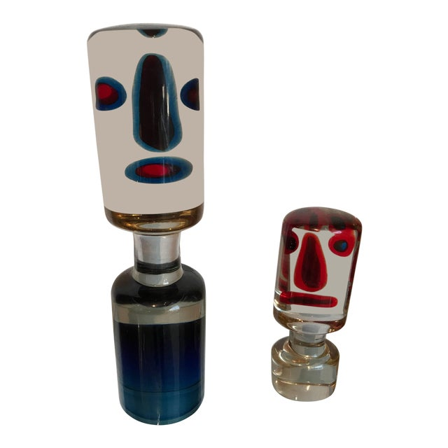 Antonio Da Ros for Cenedese Glass Figures- A Pair For Sale