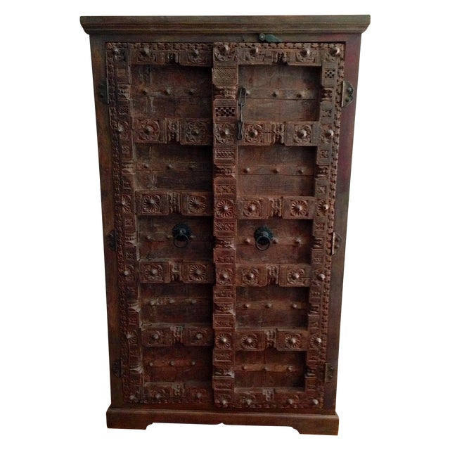 Vintage Hand-Carved Armoire - Image 1 of 4