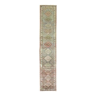 Rustic Tribal Early 20th Century Antique Runner, 2'8'' X 13'3'' For Sale