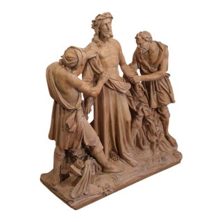 French Terracotta Sculpture of Christ Before Crucifixion For Sale