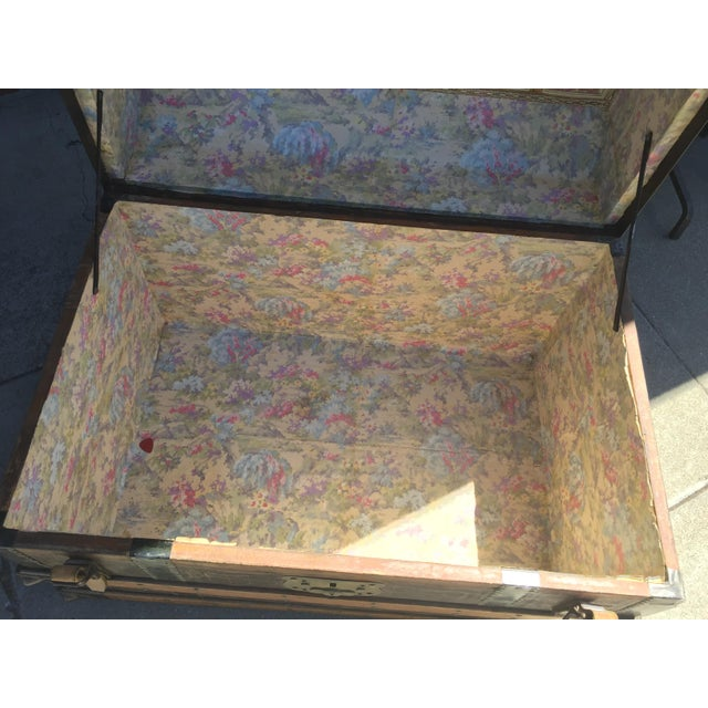 Antique Stagecoach Trunk Steamer For Sale - Image 11 of 13