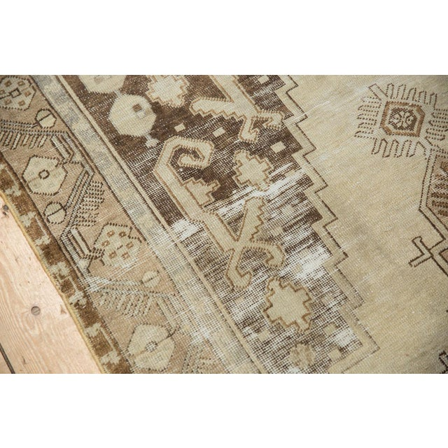 "Shabby Chic Vintage Distressed Oushak Rug Runner - 4'9"" x 10'2"" For Sale - Image 3 of 11"