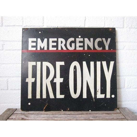 Vintage Emergency Fire Exit Sign - Image 5 of 6