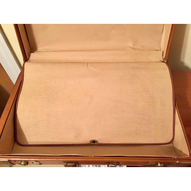 Vintage Cognac Leather Suitcase - Image 8 of 8