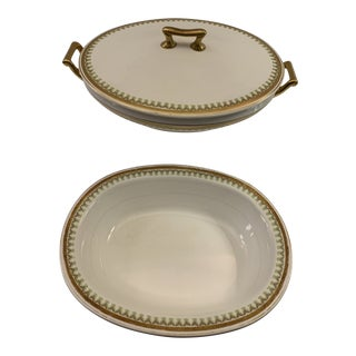 Antique 1920s Smith Phillips Princess Serving Bowl and Covered Casserole Bowl - 2 Pc. For Sale