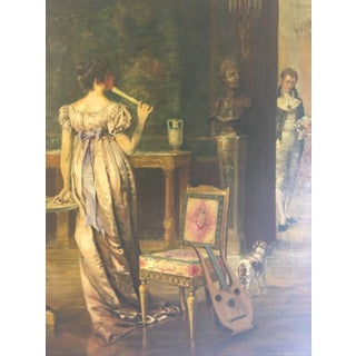 Late 19th Century Vintage Original Oil Painting by John Ward Dunsmore For Sale