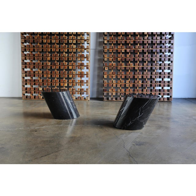 Marble Stump Tables by Lucia Mercer for Knoll - a Pair For Sale - Image 10 of 11