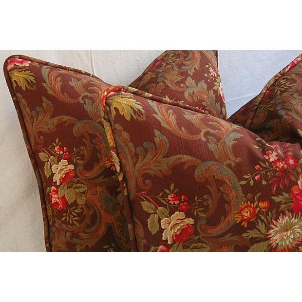 Custom American Folk Kings Floral Pillows - Pair For Sale - Image 7 of 9