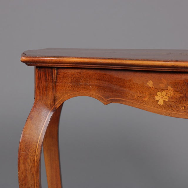 1900s French Marquetry, Mahogany With Satinwood Inlay For Sale - Image 4 of 13