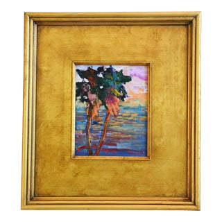California Impressionist Landscape Seascape Painting by Juan Guzman For Sale